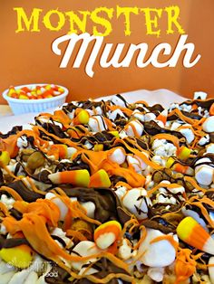 Get ready for Halloween with this fun and easy Halloween Treat- Monster Crunch