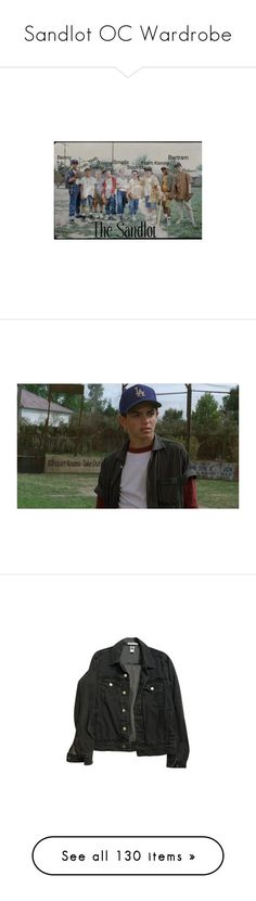 """Sandlot OC Wardrobe"" by frozenivoryheart ❤ liked on Polyvore featuring backgrounds, sandlot, outerwear, jackets, tops, coats & jackets, denim jacket, american apparel, unisex jackets and jean jacket"