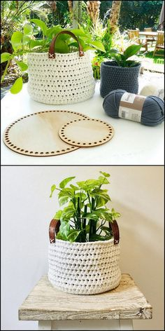 Trendy Crochet Patterns And Designs For Your Personal Use - Diy Crafty Crochet Bowl, Cute Crochet, Knit Crochet, Knitting Patterns, Crochet Patterns, Box Patterns, Crochet Bracelet, Crochet Handbags, Crochet Designs