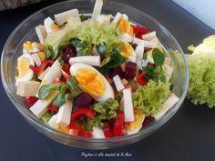 Good Food, Yummy Food, Tasty, Romanian Food, Healthy Salad Recipes, Salad Dressing, Guacamole, Food Art, Cobb Salad