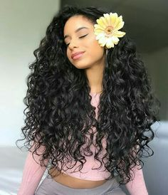 Long Wigs Lace Hair Frontal Long Straight Middle Part – dianawigs Long Curly Hair, Curly Hair Styles, Natural Hair Styles, Deep Curly, Curly Wigs, Tumblr Curly Hair, Big Hair, Curly Bob, Jerry Curl Hair