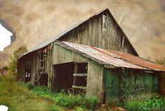Unusual old and decaying barn  -  momtriedit.net