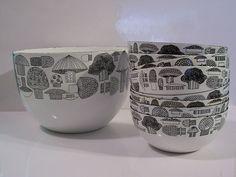 Vintage Finel Enamel Set of 9 Bowls by embot9000, via Flickr