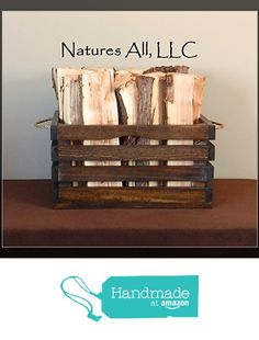 Fireplace Logs, Wood Crates, Rustic, Amazon, Handmade, Home Decor, Wood Boxes, Country Primitive, Wooden Crates