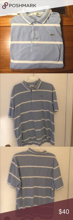 Men's Lacoste Striped Polo Large Men's 100% Cotton striped Lacoste polo. Large. Lacoste Shirts Polos