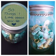 50 reasons why I love you/us. DIY long distance relationship gift