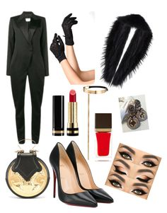 """""""Posh Prom"""" by vonsherika on Polyvore featuring Yves Saint Laurent, Christian Louboutin, Sally Lapointe, Jenny Bird, Okhtein, Gucci and Tom Ford"""