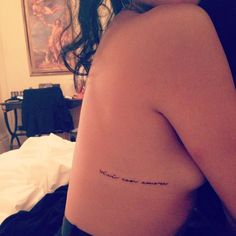 Rib Tattoo Placement...faith, hope and love