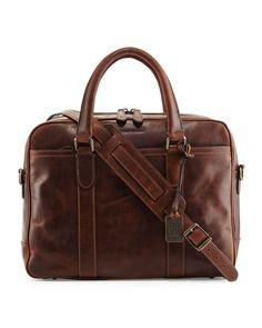 Logan Leather Briefcase, Dark Brown - Frye