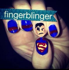 My superman nails I did for my sister :)