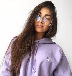 Violet Purple Champion Hoodie