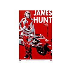 James Hunt Racing Portrait Poster