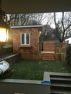 Shed and deck