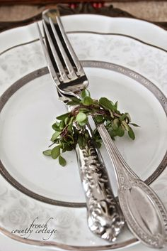 FRENCH COUNTRY COTTAGE: Boxwood napkin rings. A simple and chic touch for any holiday dinner party.