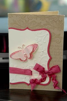 pretty textured card by Monica Gale