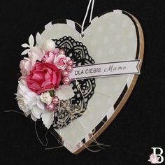 serce, dla mamy, ozdoba, dzień mamy, handmade, rękodzieło