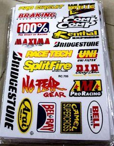 Racing MX Sticker Decals 76 Sticker Decals Free Shipping #stickerdecalsworldwide