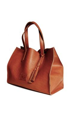 Leather tote. Get gorgeous oil tan leather like this from TheLeatherGuy.org