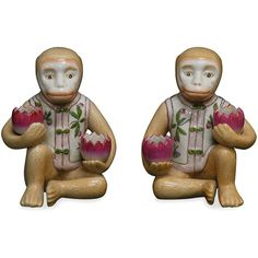 Hand Painted Porcelain Monkey Holders ($11) ❤ liked on Polyvore featuring home, kitchen & dining and kitchen gadgets & tools