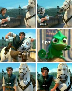 I love how Percy's the horse XD