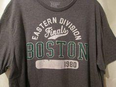 Unisex Old Navy Tee Shirt Large Gray Eastern Division Finals Boston 1980 #OldNavy #BasicTee