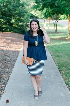How to Style a Striped Pencil Skirt by NC fashion blogger Still Being Molly