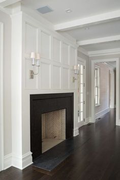 Love the fireplace molding
