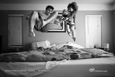 """Daddy can we jump in bed?"" by Rob Futrell 
