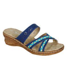 Love this Blue Yuki Slide Sandal on #zulily! #zulilyfinds