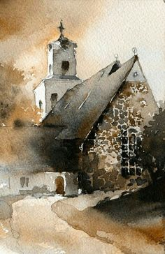 Artist not known... #watercolorarts