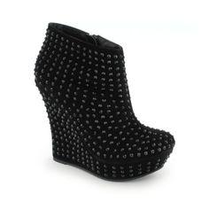 5 1.25 Shiekh Women's Studded Platform Dress Shoe 011