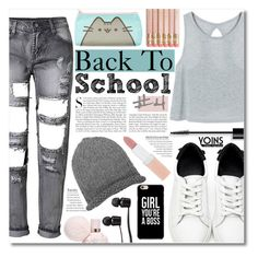"""Back To School Outfit Ideas #4 - yoins"" by elizabeth4ever ❤ liked on Polyvore featuring Kershaw, Vans, Rimmel, Christian Dior, Pusheen, yoins, yoinscollection and loveyoins"