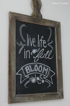 Spring and Easter chalkboard art inspiration. Use Wallies peel-and-stick vinyl chalkboard decals, available in assorted sizes. Summer Chalkboard Art, Chalkboard Art Quotes, Chalkboard Writing, Kitchen Chalkboard, Chalkboard Decor, Chalkboard Lettering, Chalkboard Designs, Chalkboard Doodles, Blackboard Art
