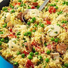 Scallop Couscous Paella #healthyfamilydinners