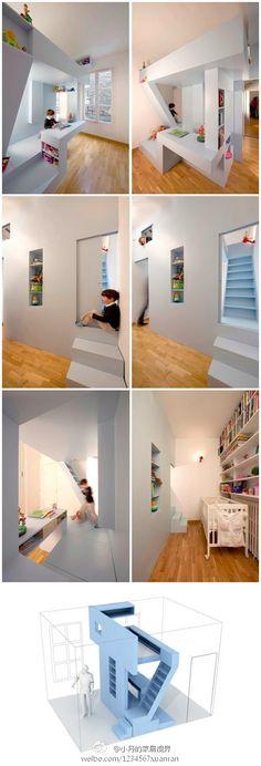 12㎡的小单间 Kid Spaces, Small Spaces, Creative Kids Rooms, Home Daycare, House Of Beauty, Kids Corner, Kidsroom, House Rooms, Home And Living
