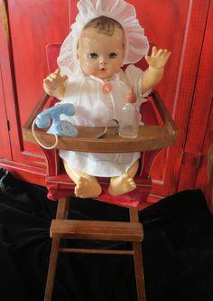 Vintage Original  Effanbee Dy-Dee Doll Baby High Chair