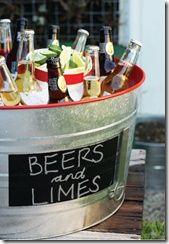 Backyard BBQ Beer Bucket for parties!!