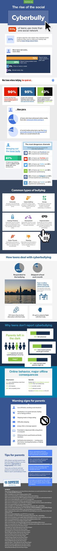 The Rise of the Social Cyberbully #infographic #Cyberbullying #Internet