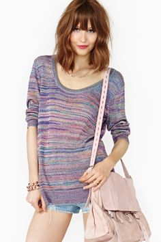 Melted Rainbow Knit by Nasty Gal