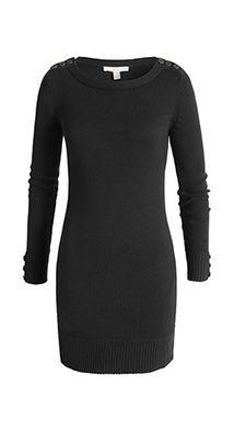 Esprit / sportieve, gebreide jurk met sierknoopjes