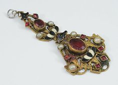Romantic Victorian Austro-Hungarian or French Paste Pendant