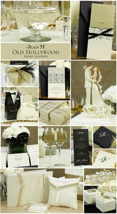 Old Hollywood Wedding Theme- I don't know if it's too bougey, but I like the black and white combo.