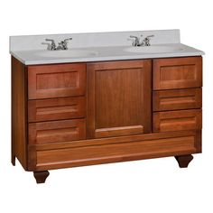 "ROMA Series - 48""(w) x 18""(d) Vanity with Bottom Drawer at Menards"