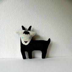 the Goat - plush wool pillow