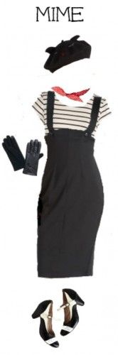 French mime costume with a vintage 1950s twist. Shop this look at VintageDancer.com