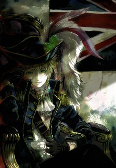 Hetalia ~~~ England declares that it is time for some piracy!  ....then Japan reminds him he is NOT a space pirate AND he'd look lousy in a mini-skirt.