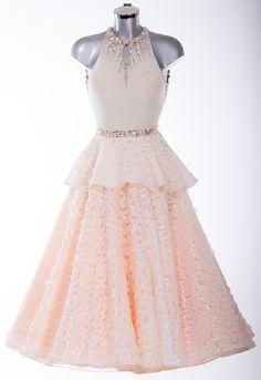 373682  White and Champagne Ballroom Dress - DSI London