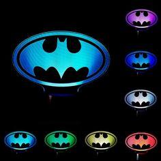 Batman Sign 3D Illusion LED Lamp