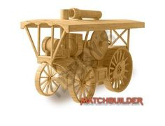 This Matchbuilder Traction Engine from Hobby's includes everything needed to make this matchstick model kit.  Included are all the pre-cut card formers along with the glue, matchticks and full instructions. These instructions will guide you through each stage of the construction until you finally achieve the finished product.  We would highly recommend this Matchbuilder Traction.