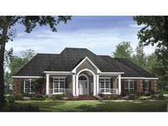 Country House Plan with 2769 Square Feet and 4 Bedrooms from Dream Home Source | House Plan Code DHSW64716